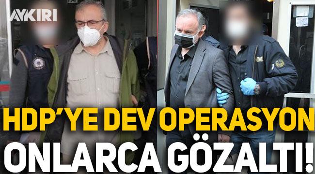 HDP'ye 'Kobani eylemleri' için dev operasyon, onlarca gözaltı!