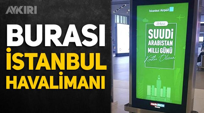 İstanbul Havalimanı'ndan Suudi Arabistan'ın bağımsızlık günü böyle kutlandı