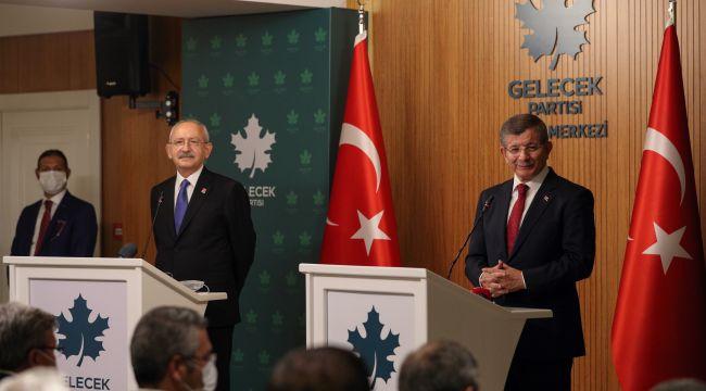 Kılıçdaroğlu ve Davutoğlu bir araya geldi, görüşme sonrası ortak açıklama, ittifak gündemde mi