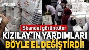 Kızılay'da skandallar bitmiyor! İstanbul'da Kızılay'ın yardım kolileri böyle el değiştirdi