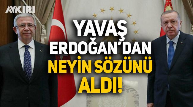 Mansur Yavaş, Erdoğan'dan neyin sözünü aldı