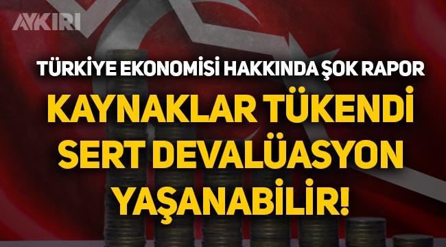 Moody's Türkiye ekonomisi için sert devalüasyon uyarısı yaptı!