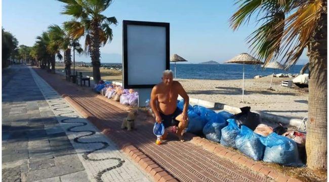 Murat Boz'un babasından duyarlı hareket: Tatilde çöp topladı