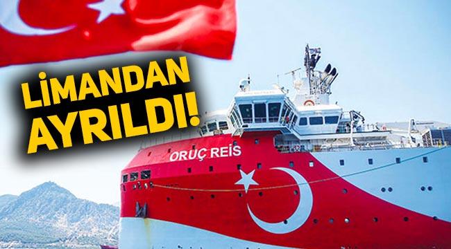 Oruç Reis Antalya Limanı'ndan ayrıldı