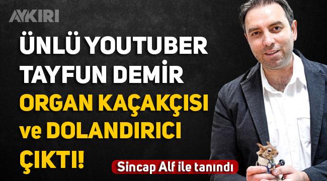 Sincap Alf ile meşhur olan Youtuber Tayfun Demir'in, 44 ayrı suçtan 52 yıl hapis cezası aldığı ortaya çıktı