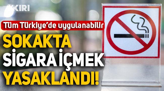 Sokakta sigara içmek Giresun'da yasaklandı