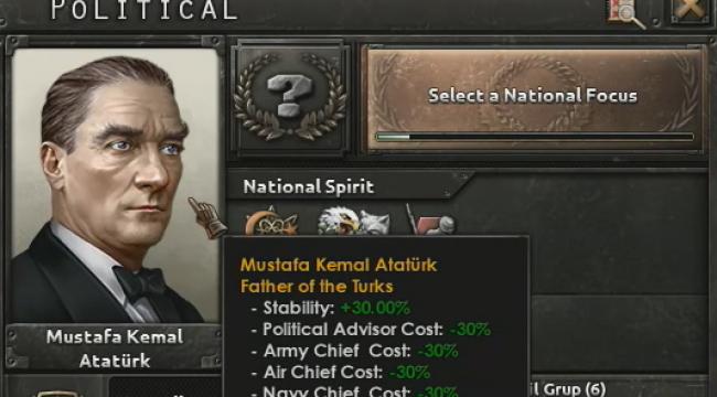 """Strateji Oyunu Hearts of Iron'a """"Türklerin babası"""" sıfatıyla Atatürk de ekleniyor"""