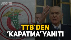 TTB'den Bahçeli'ye yanıt