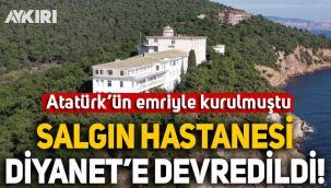 Türkiye'nin ilk salgın hastanesi Diyanet'e devredildi: