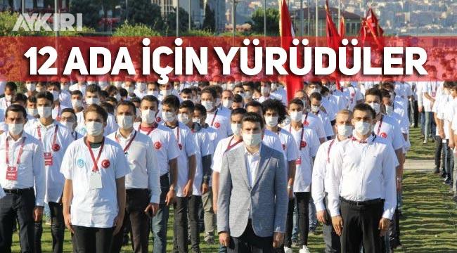 Ülkü Ocakları İzmir'de 12 ada için yürüdü