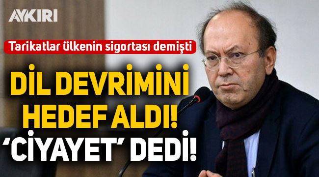 Yusuf Kaplan 'Dil Devrimi'ni hedef aldı!