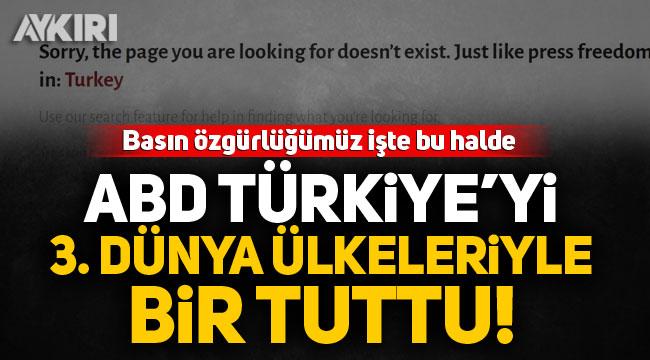 ABD, Türkiye'yi 3.dünya ülkeleriyle bir tuttu