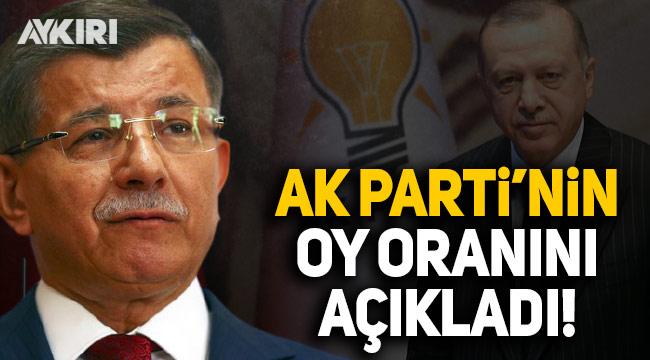 Ahmet Davutoğlu, AK Parti'nin oy oranını açıkladı
