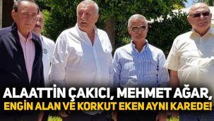 Alaattin Çakıcı, Mehmet Ağar, Engin Alan ve Korkut Eken aynı karede