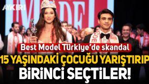 Best Model Türkiye'de skandal: 15 yaşındaki Melisa İmrak'ı yarıştırıp birinci seçtiler!