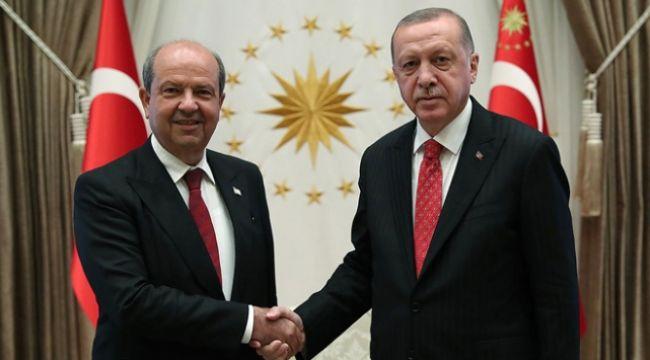 Cumhurbaşkanı Erdoğan'dan, Ersin Tatar' tebrik