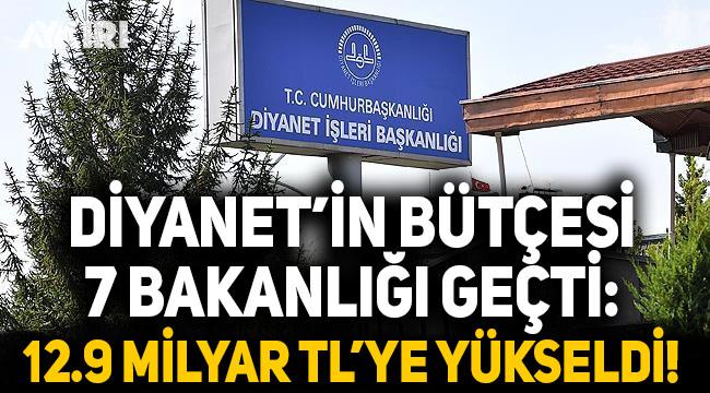 Diyanet'in bütçesi 7 bakanlığı geçti: 12.9 milyar liraya yükseldi
