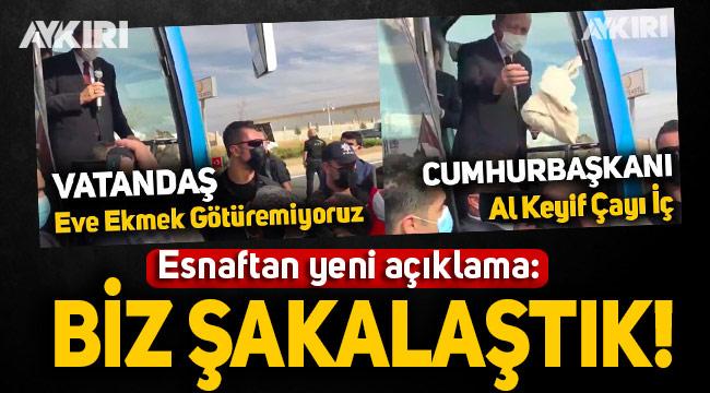 Erdoğan'a 'Eve ekmek götüremiyoruz' diyen esnaf: Biz şakalaştık, külliyeye giderek kayısı ikram edeceğiz