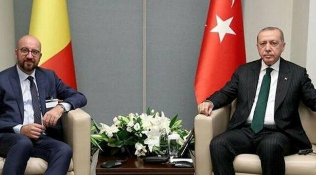 Erdoğan, AB konsey başkanı ile Doğu Akdeniz'i görüştü