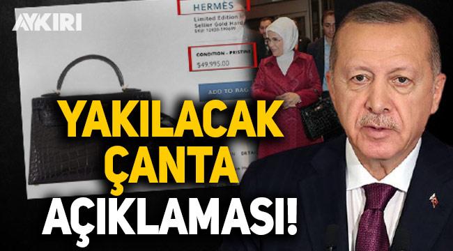 Erdoğan'dan Kılıçdaroğlu'nun 'yakılacak çanta' açıklamasına cevap!