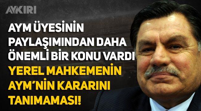 """Eski AYM Başkanı Haşim Kılıç: """"AYM'nin Enis Berberoğlu kararını reddeden yerel mahkeme konusu unutuldu"""""""