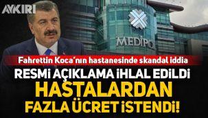 Fahrettin Koca'nın hastanesi için skandal iddia: Hastalardan 350 lira test ücreti isteniyor!