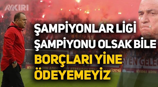 """Fatih Terim: """"Şampiyonlar ligi şampiyonu olsak bile borçlar kapanmıyor"""""""