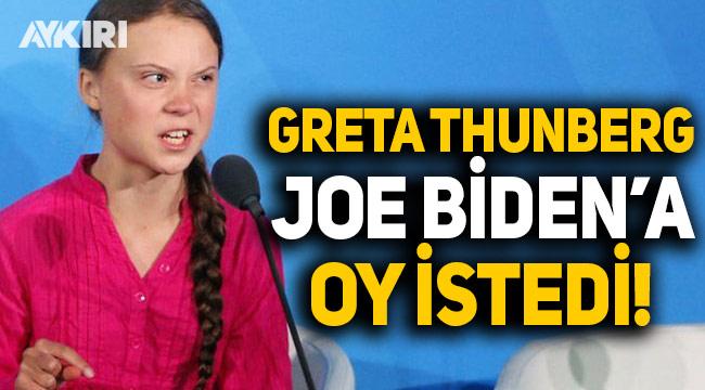 Greta Thunberg, ABD seçimleri için Joe Biden'a oy istedi