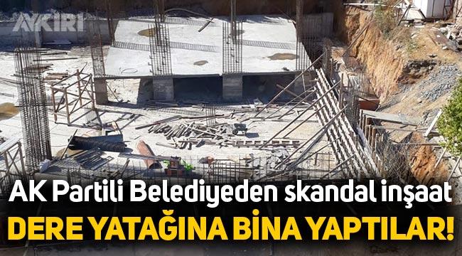 İSKİ'nin dere yatağı olduğu uyarısında bulunduğu bölgeye Eyüp Belediyesi bina yapıyor!