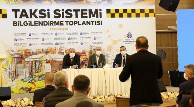 İstanbul Büyükşehir Belediyesi'nden yeni taksi sistemi