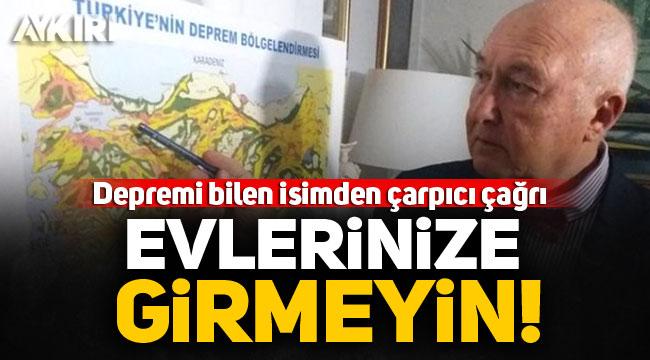 """İzmir'de yeni deprem olur mu! Deprem Uzmanı Ercan: """"Evlerinize girmeyin"""""""