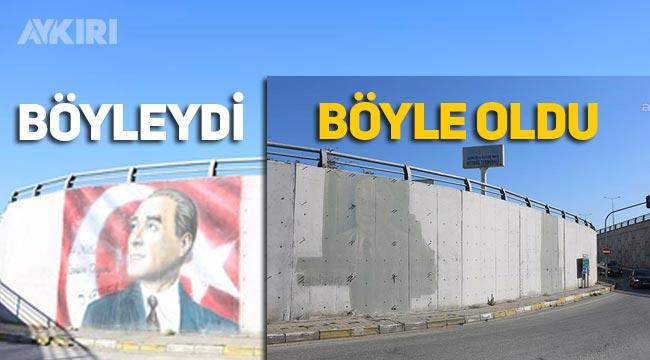 Karayolları'ndan skandal: Gece yarısı Atatürk'ü sildiler!