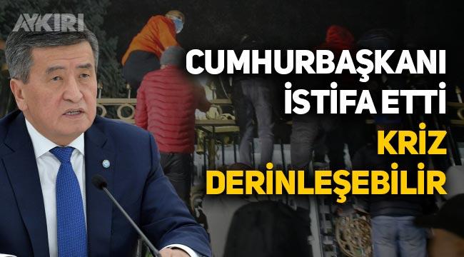 """Kırgızistan Cumhurbaşkanı istifa etti: """"Halkına ateş eden başkan olarak anılmak istemiyorum"""""""
