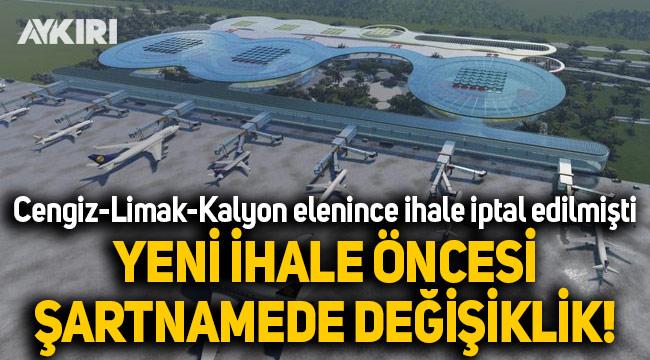 Limak-Kalyon-Cengiz'in elenmesiyle iptal edilen Çukurova Havaalanı ihalesi yeniden yapılıyor
