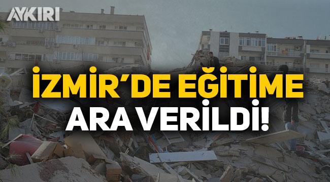 Milli Eğitim Bakanı Ziya Selçuk duyurdu: İzmir'de eğitime 1 hafta ara verildi