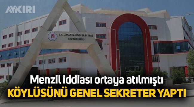 Menzil iddialarının ortaya atıldığı Amasya Üniversitesi'nde tartışmalı atama