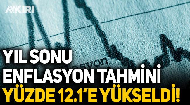Merkez Bankası, yıl sonu enflasyon tahminini yüzde 8.9'dan 12.1'e yükseltti