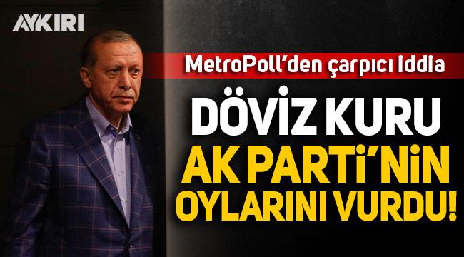 MetroPoll'den çarpıcı iddia: Döviz kuru AK Parti'nin oylarını vurdu