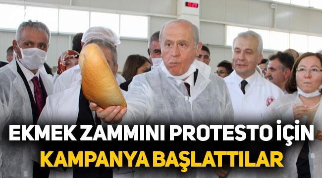 MHP ekmek zammına tepki gösterip, askıda ekmek kampanyası başlattı