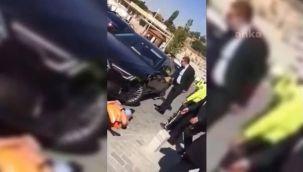 MHP'li Erkan Haberal'ın şoförü güvenlik görevlisine arabayla çarptı, vekil olaya sahip çıktı