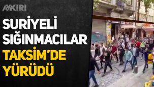 Suriyeli sığınmacılar Taksim'de yürüdü, Fransa'yı protesto etti