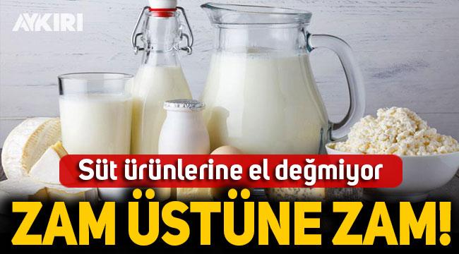 Süt ürünlerine el değmiyor: Zam üstüne zam!