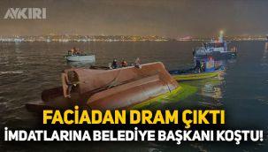 Tekneleri batan 2 arkadaşlarını kaybeden balıkçıların imdadına Rıza Akpolat yetişti