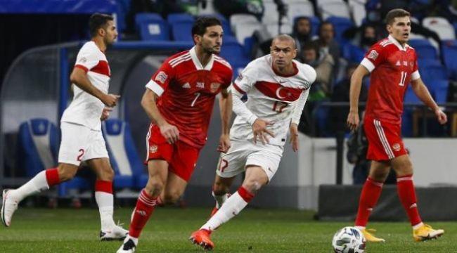 Türkiye, Rusya'da direkten döndü! Maç 1-1 beraberlikle sonuçlandı