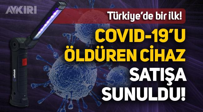 """Virüsü öldüren cihaz """"Covid Killer"""" satışa sunuldu"""