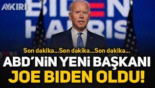 ABD'nin yeni başkanı Joe Biden oldu!