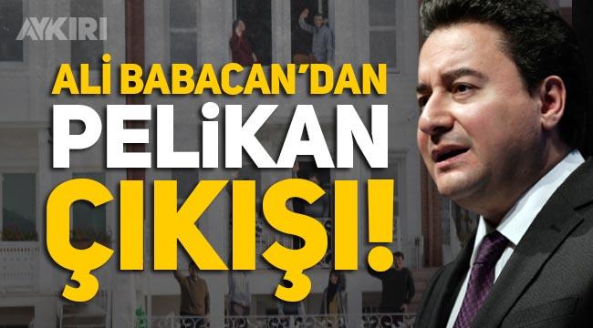 """Ali Babacan'dan Pelikan çıkışı: """"Sayın Erdoğan hızlı manevra yaptığınızda Pelikan kaza yapıyor"""""""