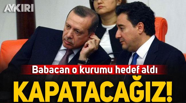 Ali Babacan, Erdoğan'ın kurduğu Varlık Fonu'nu hedef aldı: Kapatacağız!