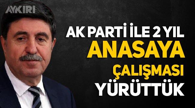 """Altan Tan: """"AK Parti, HDP ile 2 yıl anayasa çalışması yaptı"""""""