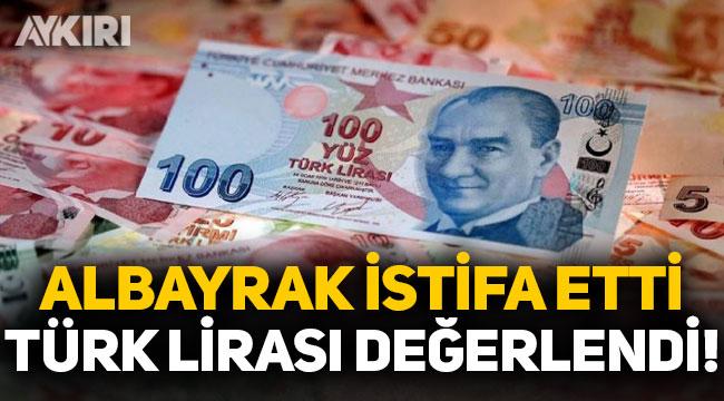 Berat Albayrak'ın istifasının ardından Türk Lirası değer kazandı!